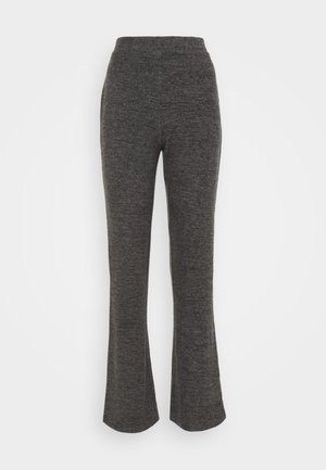 PCPAM FLARED PANT - Pantalon classique - dark grey melange