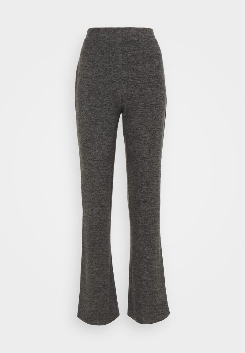 Pieces - PCPAM FLARED PANT - Trousers - dark grey melange