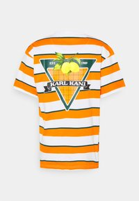 Karl Kani - SMALL SIGNATURE STRIPE TEE UNISEX - Print T-shirt - orange - 8