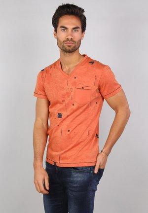 Print T-shirt - papaya
