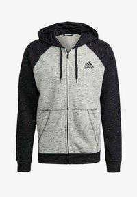 adidas Performance - SMALL LOGO - Felpa con zip - grey - 6