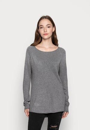 VMNELLIE GLORY LONG - Strikkegenser - medium grey