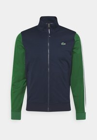 Lacoste Sport - TENNIS JACKET - Veste de survêtement - navy blue/green - 0