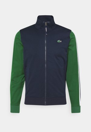 TENNIS JACKET - Chaqueta de entrenamiento - navy blue/green