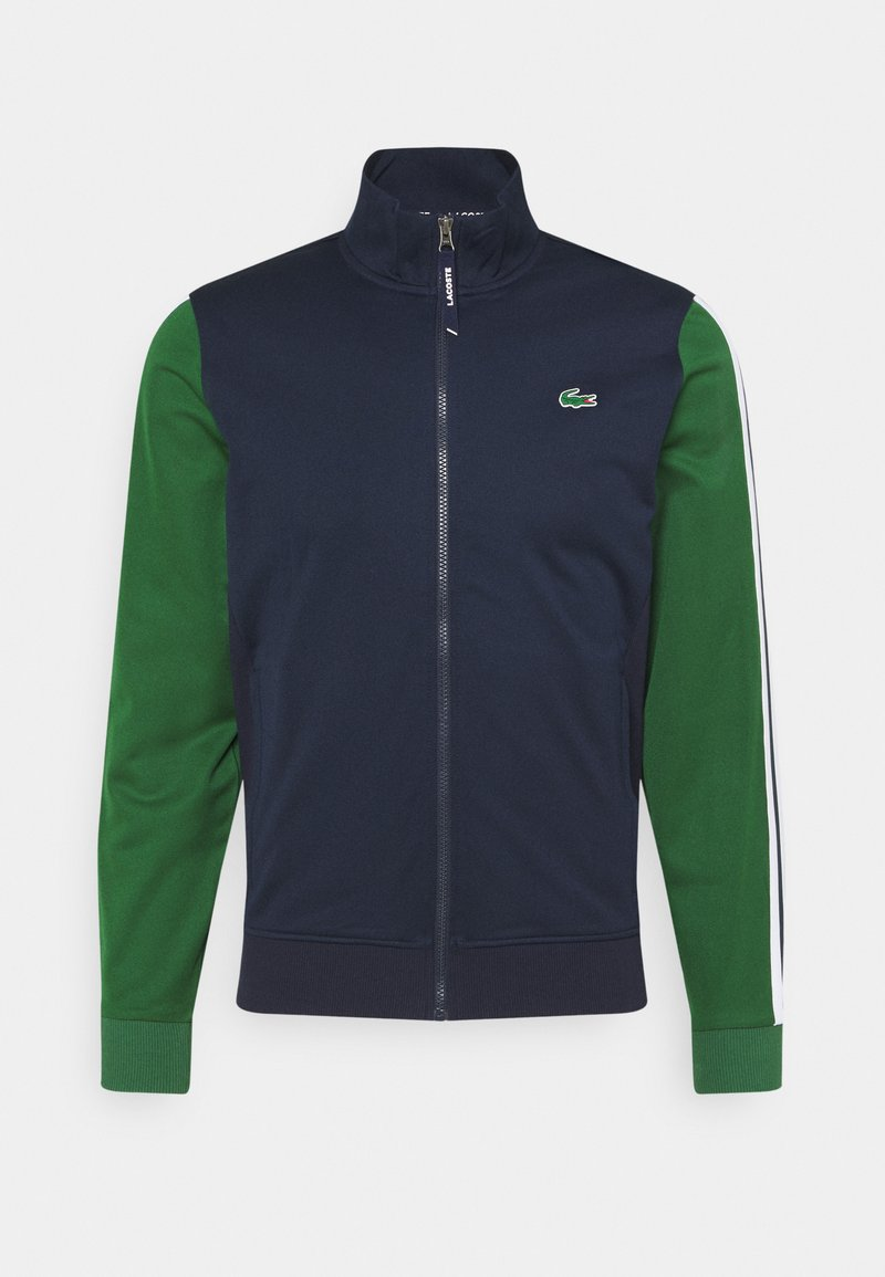 Lacoste Sport - TENNIS JACKET - Veste de survêtement - navy blue/green