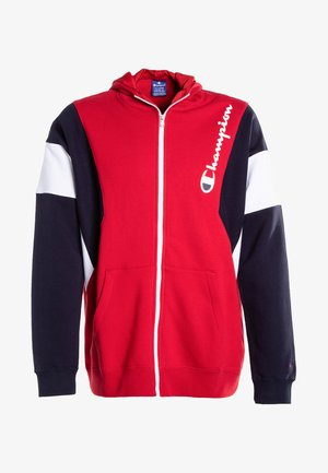 veste en sweat zippée - haute red/night sky/white