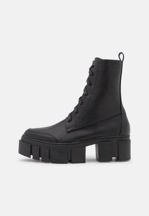 RUBY - Šněrovací kotníkové boty - black