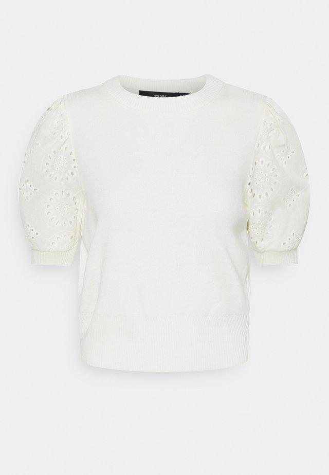 VMNEWFLOWERS O NECK - T-shirts med print - birch