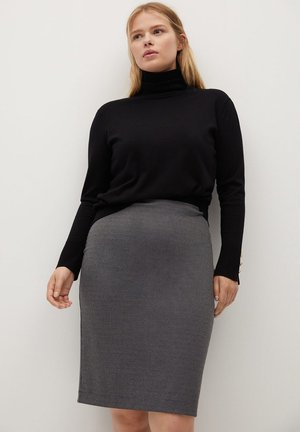 TOWAYA - Pencil skirt - grau