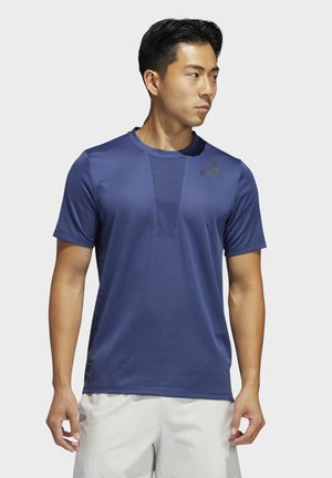 HEAT.RDY 3-STRIPES T-SHIRT - T-shirt imprimé - blue