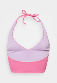 We Are We Wear - REVERSIBLE ANTONIA PLUNGE LONGLINE - Bikini top - pink/purple - 6