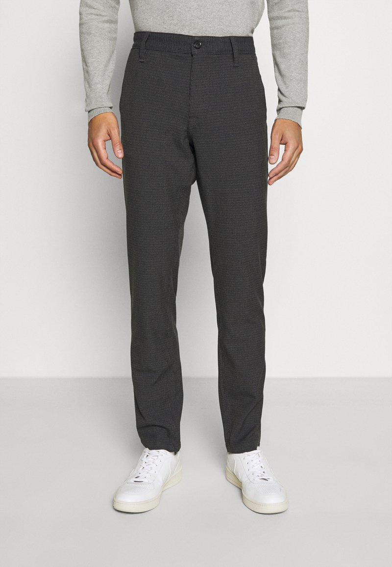 Selected Homme - SLHSLIM STORM FLEX SMART PANTS - Trousers - dark grey