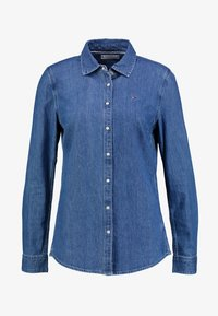 SAYA - Button-down blouse - blue denim