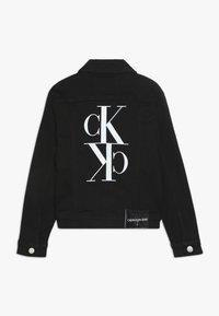 Calvin Klein Jeans - UNISEX TRUCKER - Džínová bunda - black - 1