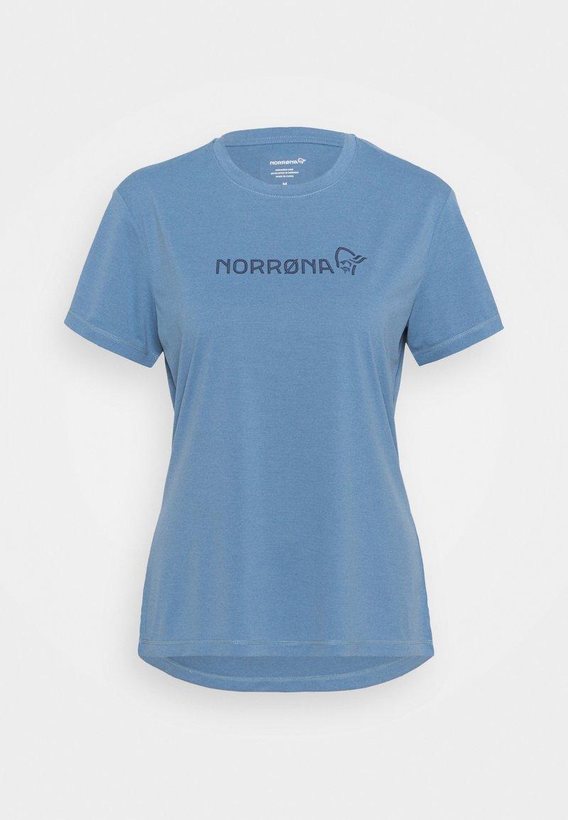 Norrøna - TECH - T-shirt imprimé - coronet blue