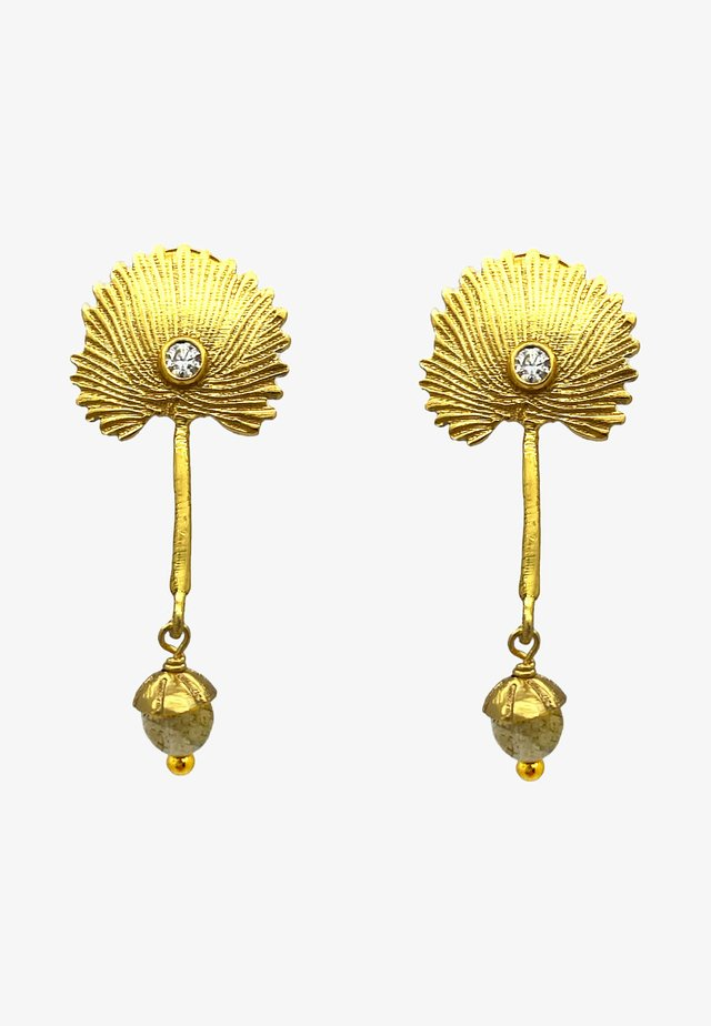 Earrings - gold grau