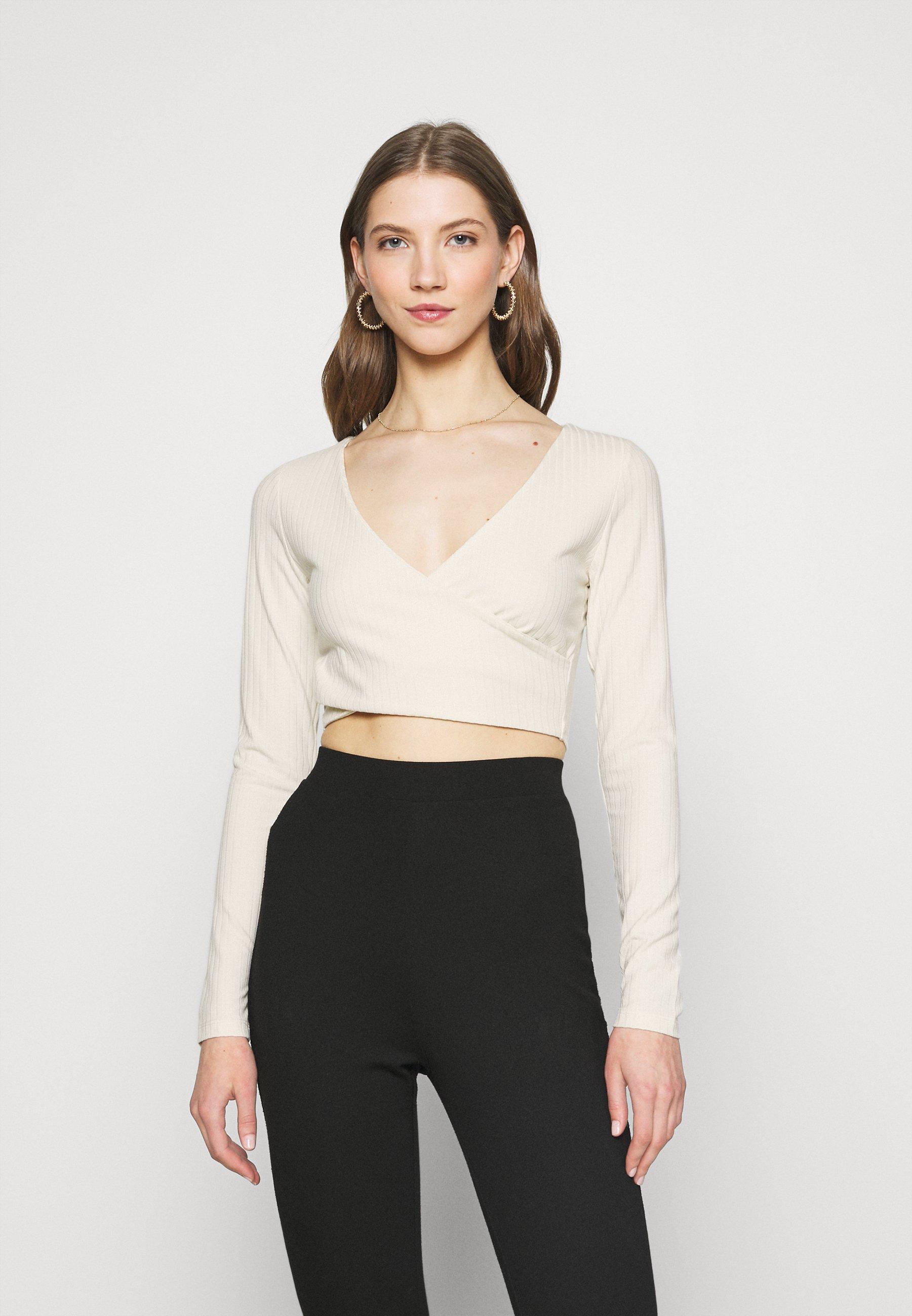 Women CRISS CROSS CROPPED - Long sleeved top