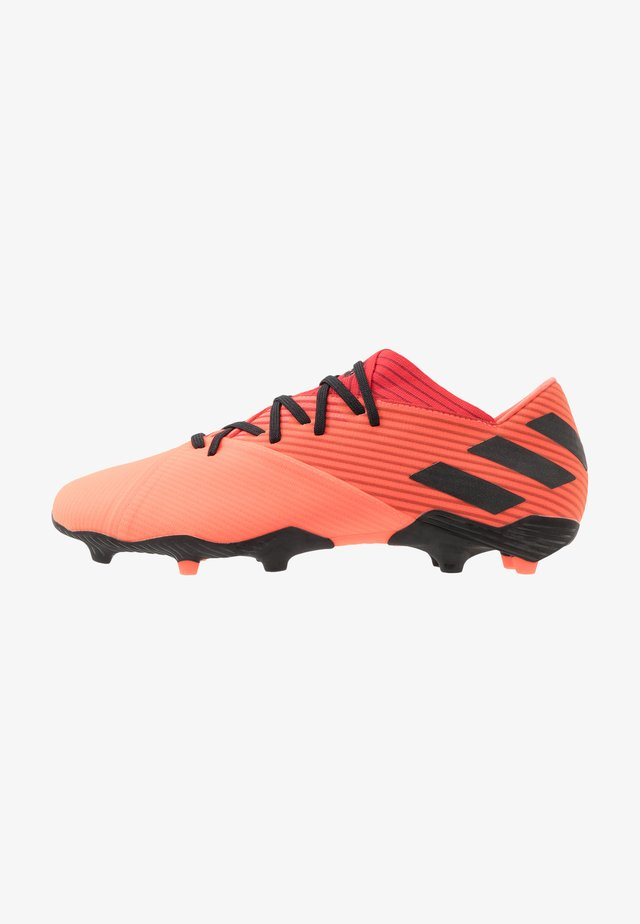 NEMEZIZ 19.2 FG - Moulded stud football boots - signal coral/core black/glow red