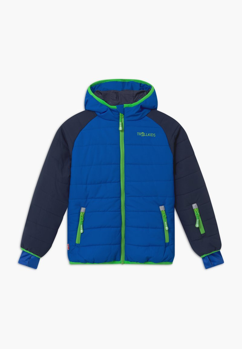 TrollKids - HAFJELL SNOW PRO UNISEX - Lyžařská bunda - navy/med blue/green
