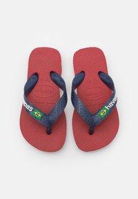 Havaianas - BRASIL LOGO - Pool shoes - red, blue - 3