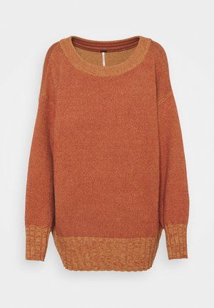STREET FAIR TUNIC - Strikkegenser - brick combo