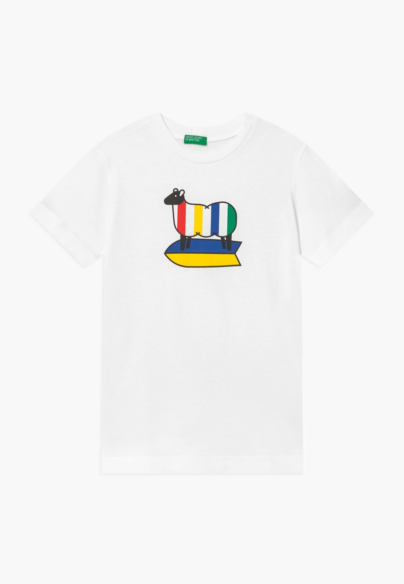 Benetton - Camiseta estampada - off-white