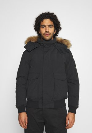 TRIMMED JACKET - Down jacket - black