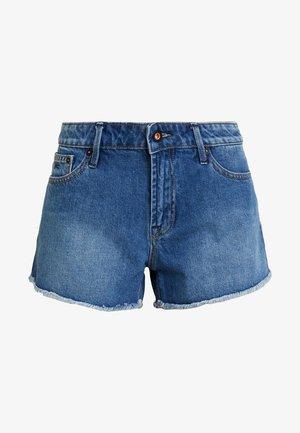 MONROE - Denim shorts - blue