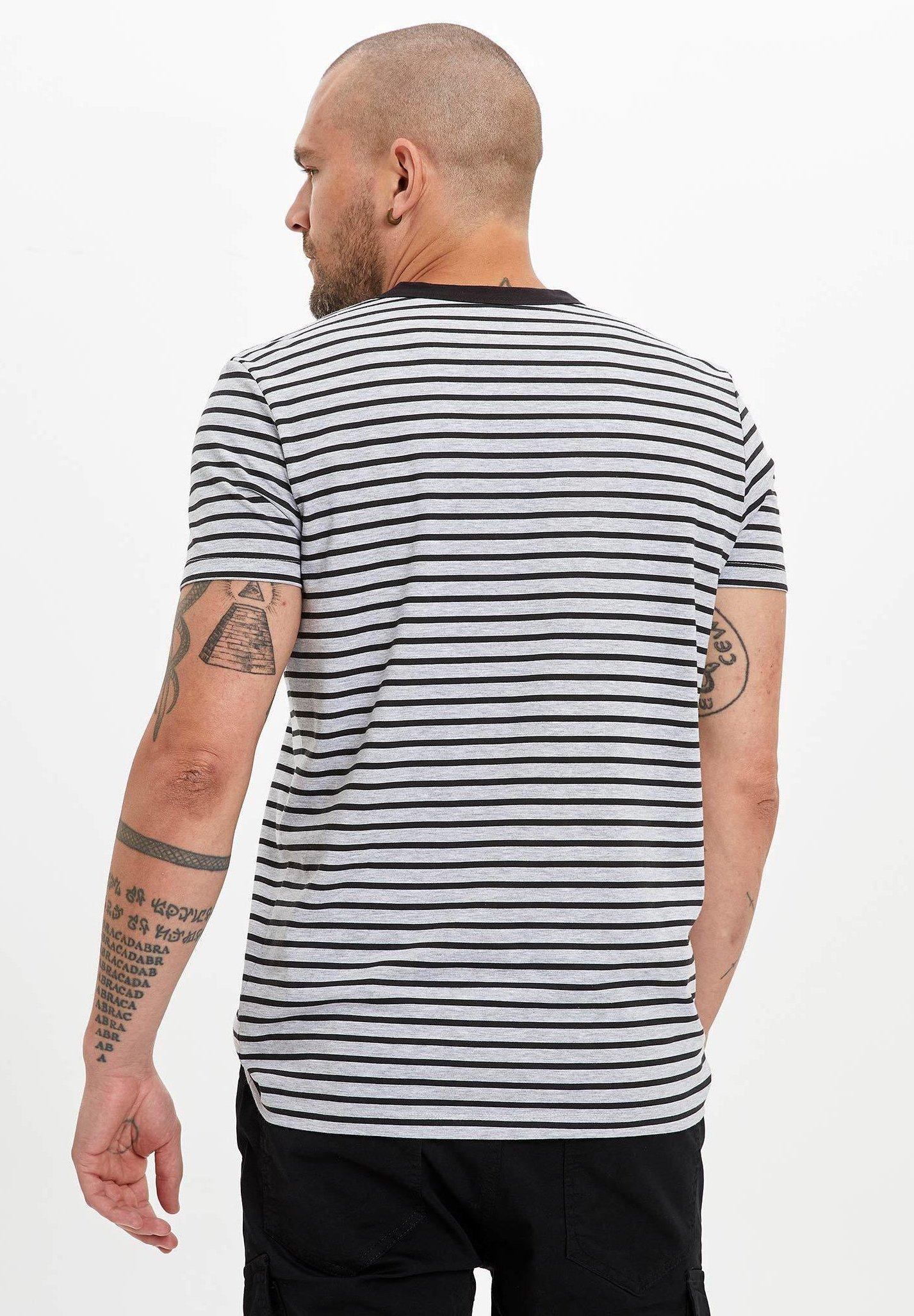 DeFacto Print T-shirt - black VWxRA