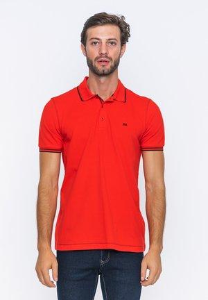 SHORT SLEEVE - Polo shirt - red/black