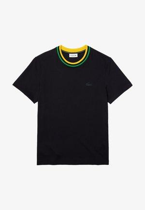 Basic T-shirt - bleu marine / jaune / noir / vert