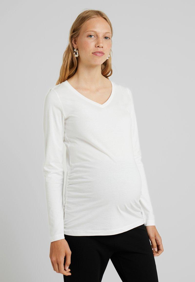 MAMALICIOUS - MLANNIA 2 PACK  - Camiseta de manga larga - snow white/dark grey melange