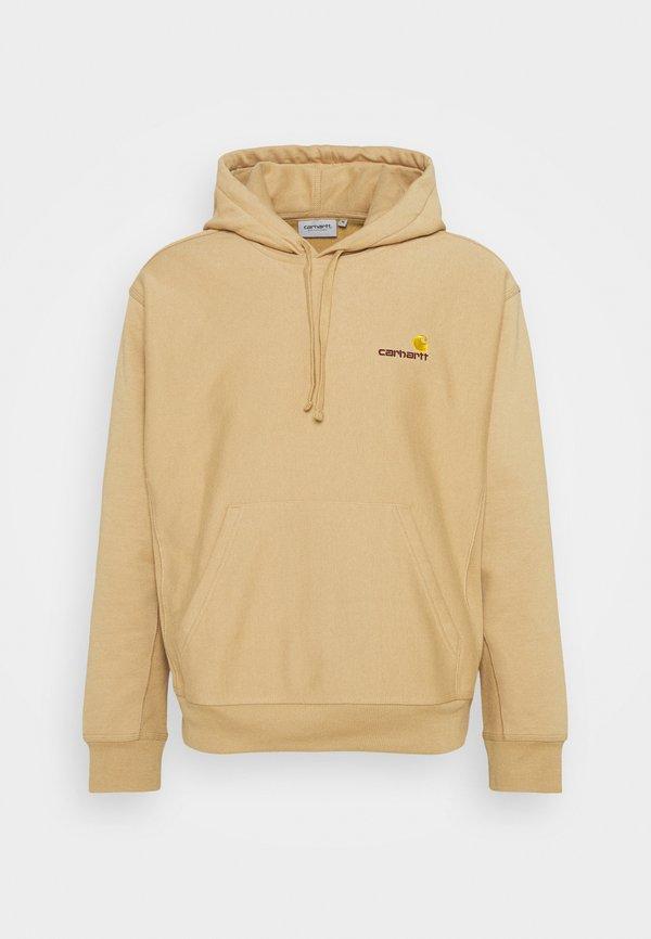 Carhartt WIP HOODED AMERICAN SCRIPT - Bluza z kapturem - dusty brown/brązowy Odzież Męska FKKN