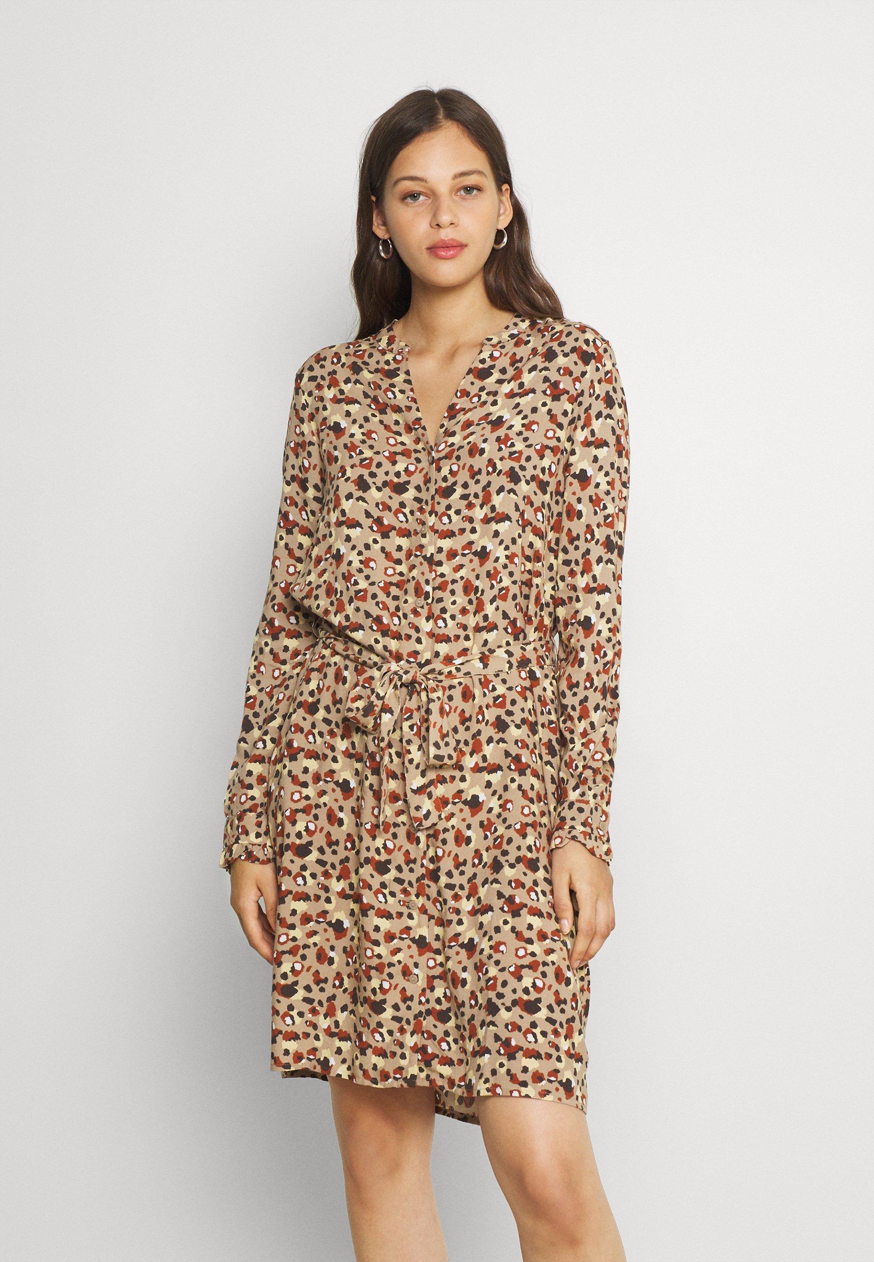 Damen PCCARLY SHIRT DRESS - Freizeitkleid