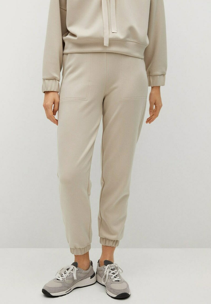 Mango - MONICA - Tracksuit bottoms - sable