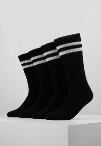 Topman - 4 PACK TUBE SOCKS  - Socks - black - 0