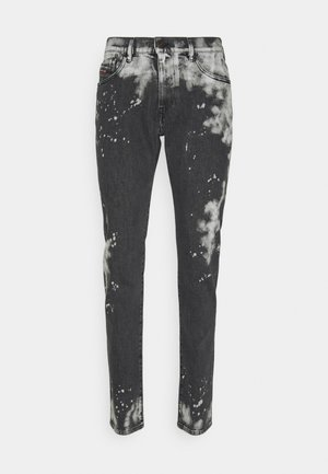 Jeansy Slim Fit - black/white