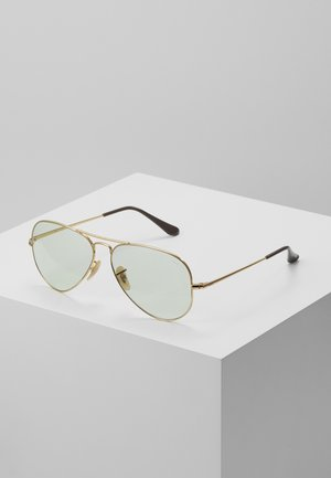 Sunglasses - gold-coloured/light green