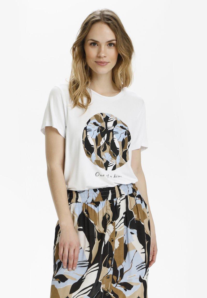 Kaffe - KAKISA - Print T-shirt - optical white