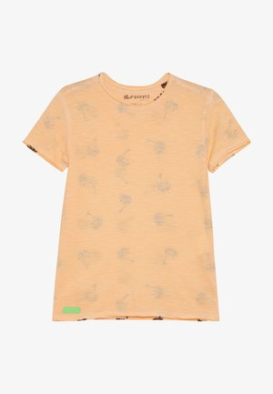BOYS PALMEN ALLOVER - Print T-shirt - neon orange oil