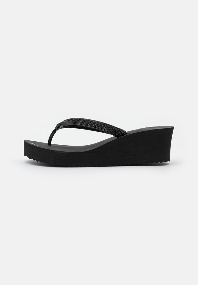 GLAM HI - T-bar sandals - black