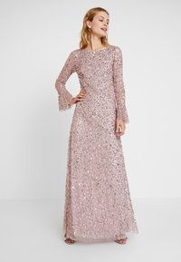 Adrianna Papell - BEADED LONG DRESS - Occasion wear - cameo - 0