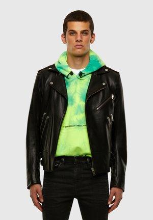GARRETT - Leather jacket - black