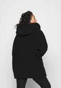 Noisy May Curve - NMCUDDLE COATIGAN - Fleece jacket - black - 2