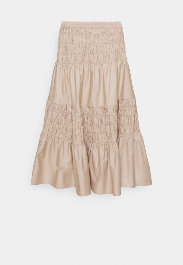 SKIRT - A-line skirt - oxford tan
