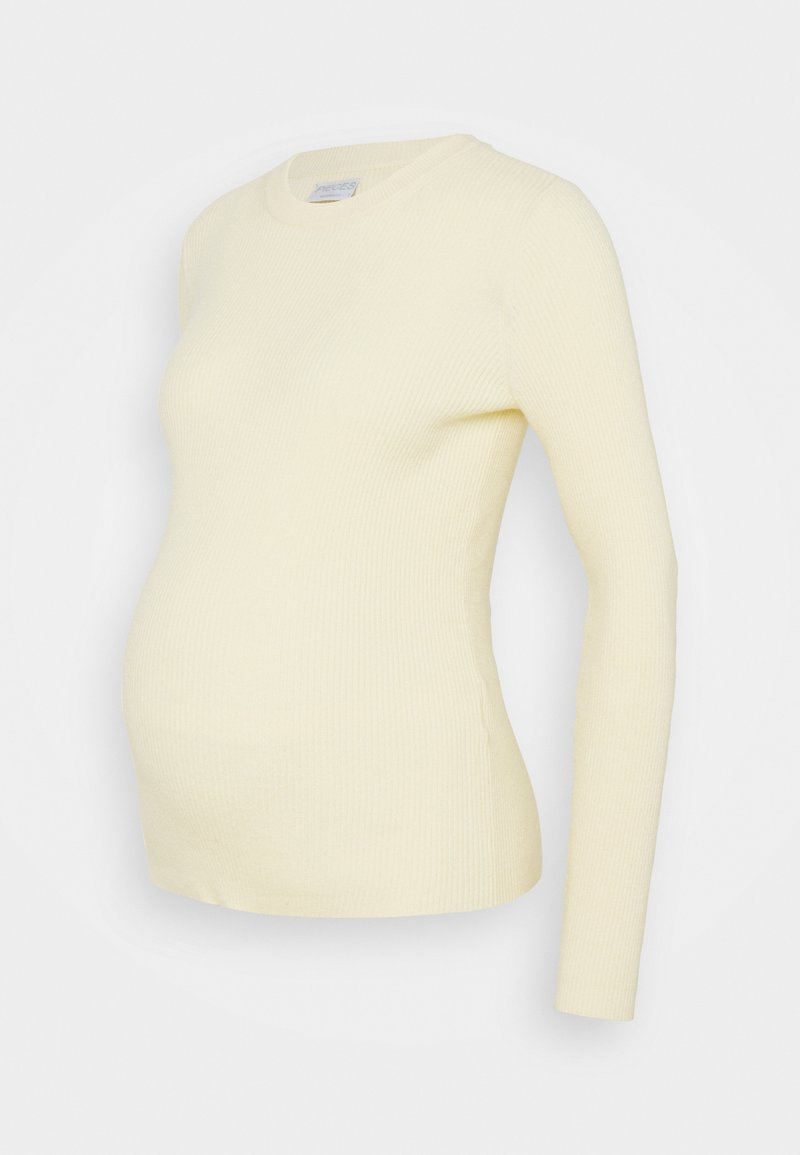 Pieces Maternity - PCMPENNY O NECK - Jumper - almond oil