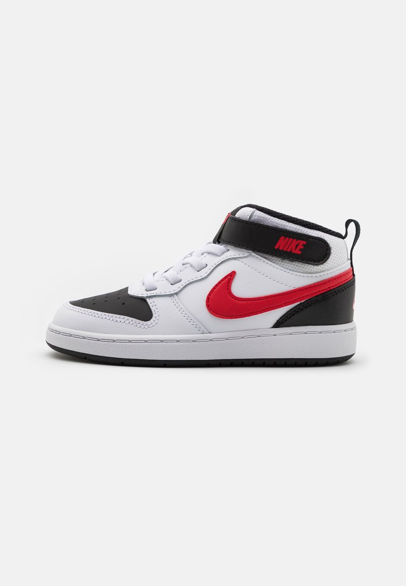 Nike Sportswear - COURT BOROUGH MID 2 UNISEX - High-top trainers - white/universe red/black