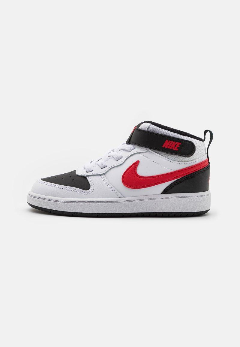 Nike Sportswear - COURT BOROUGH MID 2 UNISEX - Baskets montantes - white/universe red/black