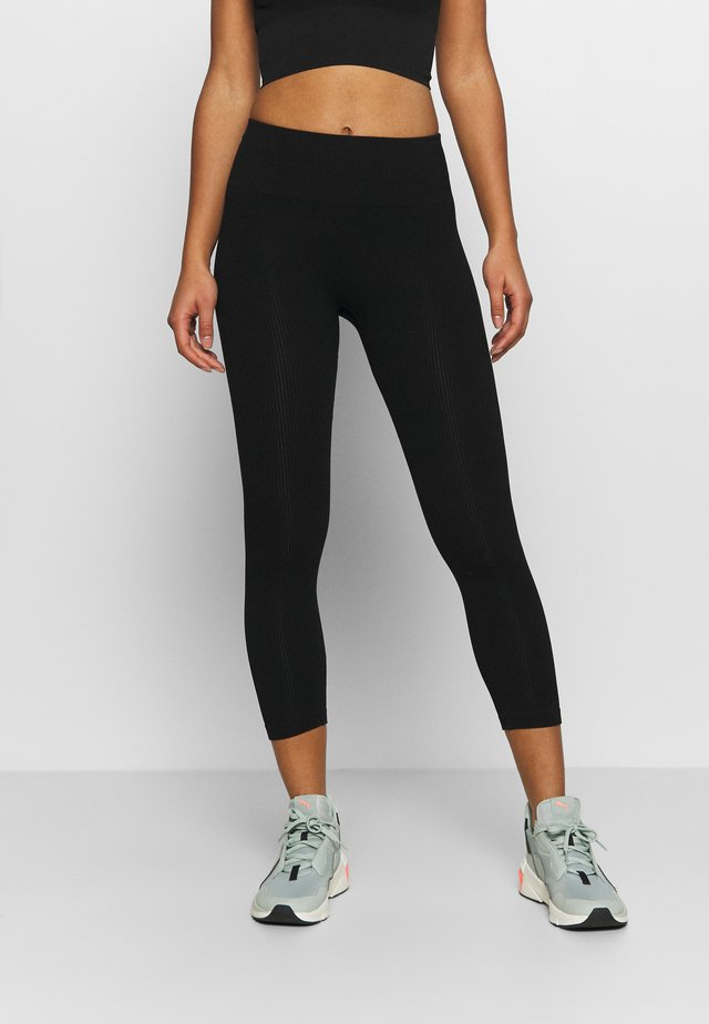 SEAMLESS LEGGINGS  - Collant - black