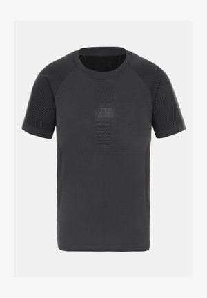 M ACTIVE S/S CREW NECK - T-shirt imprimé - asphalt grey/tnf black